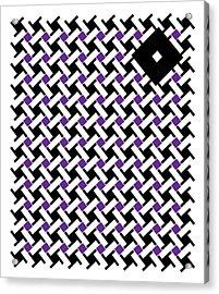 Black Flag 4. Acrylic Print by Nancy Mergybrower
