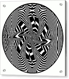 Black Flower Acrylic Print by Visual Artist  Frank Bonilla
