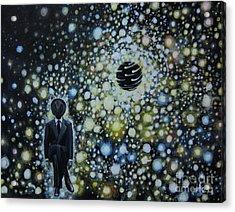 Black Hole Man Acrylic Print by Shelly Leitheiser