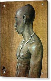 Black Man Acrylic Print by Baraa Absi
