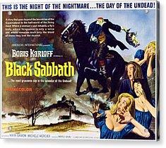 Black Sabbath, Aka I Tre Volti Della Acrylic Print by Everett