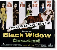 Black Widow, Ginger Rogers, Van Heflin Acrylic Print by Everett