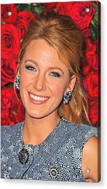 Blake Lively At Arrivals For Momas 4th Acrylic Print by Everett