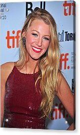 Blake Lively At Arrivals For The Town Acrylic Print by Everett