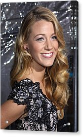 Blake Lively At Arrivals For Where The Acrylic Print by Everett