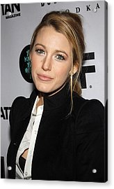 Blake Lively At Arrivals For You Know Acrylic Print by Everett