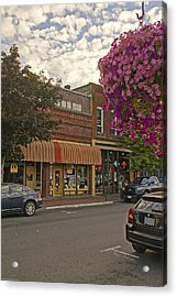 Blind Georges And Laughing Clam On G Street In Grants Pass Acrylic Print by Mick Anderson