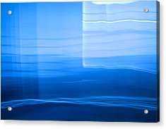 Blue Abstract 1 Acrylic Print by Mark Weaver