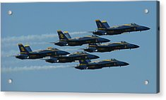 Blue Angels Take 6 Acrylic Print by Samuel Sheats