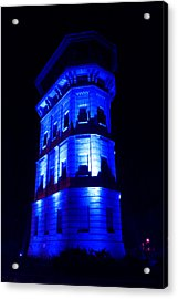 Blue Building Acrylic Print by Ion Para