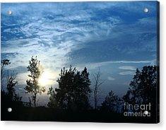 Blue Canvas Sky 03 Acrylic Print by Aimelle