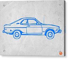 Blue Car Acrylic Print by Naxart Studio