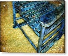 Blue Chair Acrylic Print by Judi Bagwell