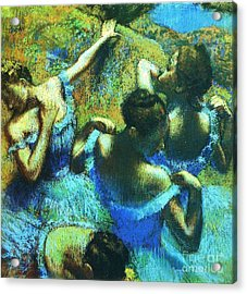 Blue Dancers Acrylic Print by Pg Reproductions