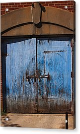 Blue Doors Acrylic Print by Bob Whitt