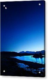 Blue Dusk Mono Lake Acrylic Print by Sylvia J Zarco