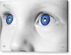 Blue Eyed Boy Acrylic Print by Richard Thomas