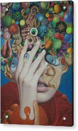 Blue-eyed Hand Acrylic Print by Douglas Fromm