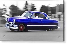 Blue Ford Customline Acrylic Print by Phil 'motography' Clark