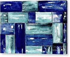 Blue Green Blue Acrylic Print by Marsha Heiken