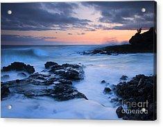 Blue Hawaii Sunset Acrylic Print by Mike  Dawson