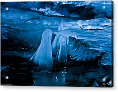 Blue Ice Acrylic Print by Mitch Shindelbower