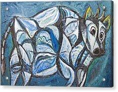 Blue Jeweled Cattle Acrylic Print by Kazuya Akimoto