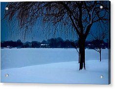 Blue Morning At Argyle Acrylic Print by Vicki Jauron
