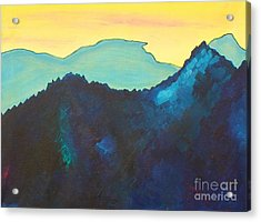 Blue Mountain Acrylic Print by Silvie Kendall