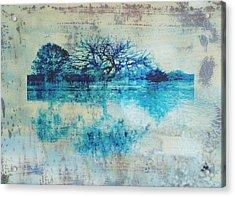 Blue On Blue Acrylic Print by Ann Powell