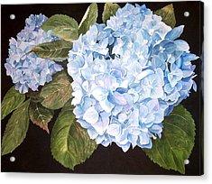 Blue On Blue Acrylic Print by Karen Casciani