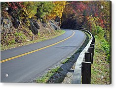 Blue Ridge Parkway Autumn Road Acrylic Print by Bruce Gourley