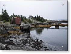Blue Rocks Nova Scotia 8 Acrylic Print by John Burnett