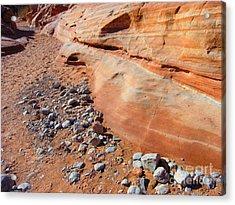 Blue Rocks Acrylic Print by Silvie Kendall