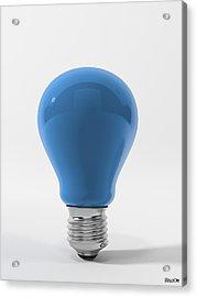 Blue Sky Lamp Acrylic Print by BaloOm Studios