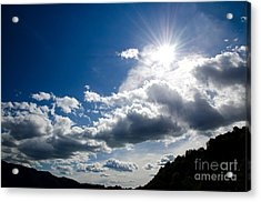 Blue Sky With Clouds Acrylic Print by Mats Silvan