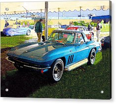 Blue Steel - Chevrolet Corvette Stingray Acrylic Print by Kenneth Breeze