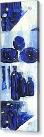 Blue Still Life Acrylic Print by Hatin Josee