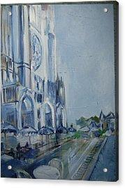 Blue Study Of Chartre Acrylic Print by Carol Mangano