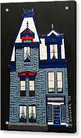 Blue Victorian Mansion Montreal Acrylic Print by Robert Handler