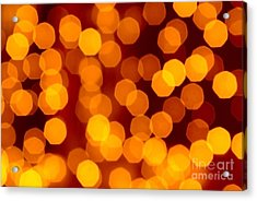 Blurred Christmas Lights Acrylic Print by Carlos Caetano