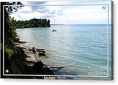 Boat On Lake Ontario Acrylic Print by Rose Santuci-Sofranko