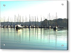 Boat Reflections Acrylic Print by Bill Kennedy