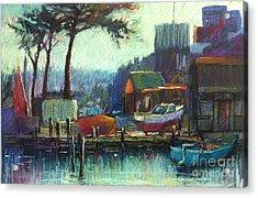 Boatman's Retreat Acrylic Print by Pamela Pretty