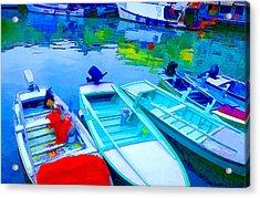 Boats Acrylic Print by Mauro Celotti
