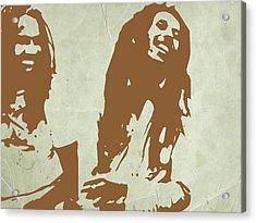 Bob Marley Brown 2 Acrylic Print by Naxart Studio