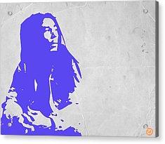 Bob Marley Purple Acrylic Print by Naxart Studio