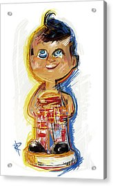 Bob's Big Boy Bobble Head Acrylic Print by Russell Pierce