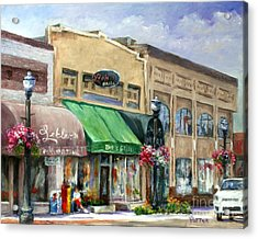 Bob's Grill Acrylic Print by Virginia Potter