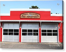 Bodega Volunteer Fire Department . Bodega Bay . Town Of Bodega . California . 7d12461 Acrylic Print by Wingsdomain Art and Photography